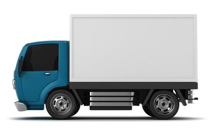 3D Illustration of a Delivery Truck illustration