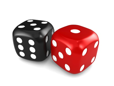 probability: 3D Illustration Featuring a Pair of Dice