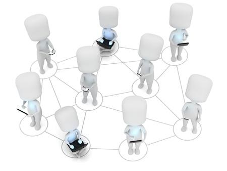 netbooks: 3D Illustration Representing Digital Connection  Social Media