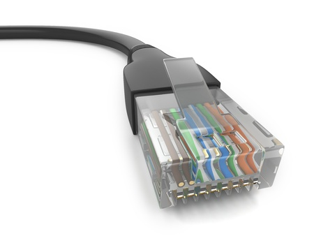 computer art: 3D Illustration of an Ethernet Cable