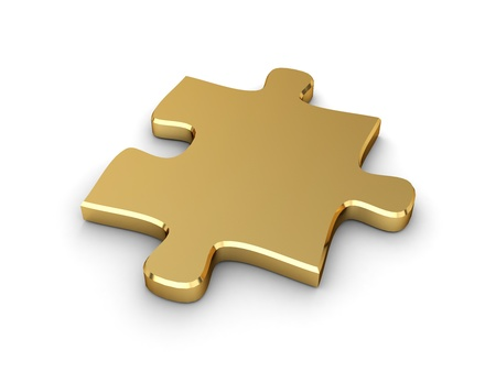 stimulation: 3D Illustration of a Piece of Jigsaw Puzzle Stock Photo