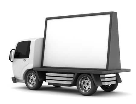 advertisement: 3D Illustration of a Mobile Billboard