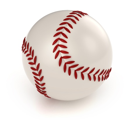 baseball cartoon: 3D Illustration of a Baseball Stock Photo
