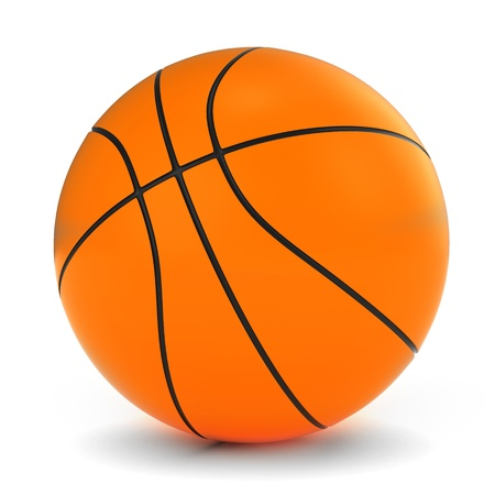 3D Illustration of a Basketball Stock Illustration - 12214948