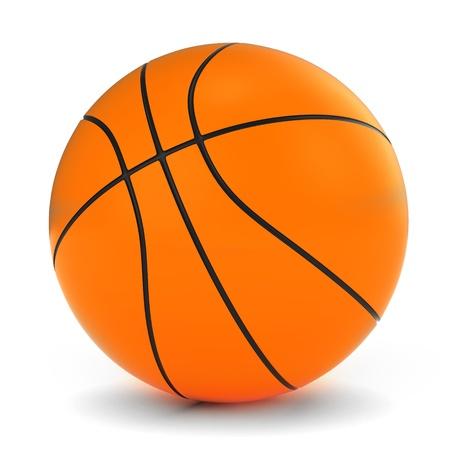 pelota caricatura: Ilustración 3D de un Baloncesto Foto de archivo