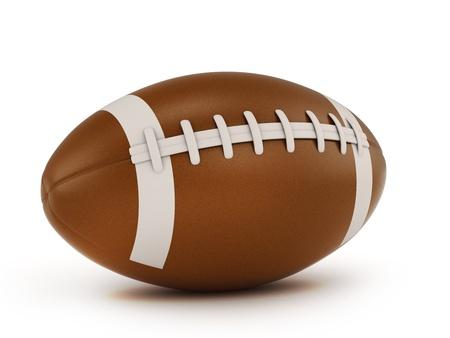 pelota de rugby: Ilustración 3D de una pelota de rugby Foto de archivo