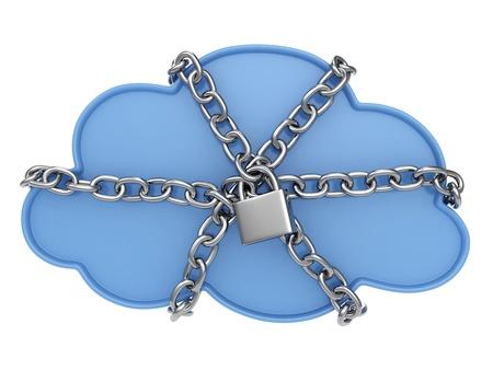 clouds cartoon: Ilustraci�n 3D de una nube con cierre