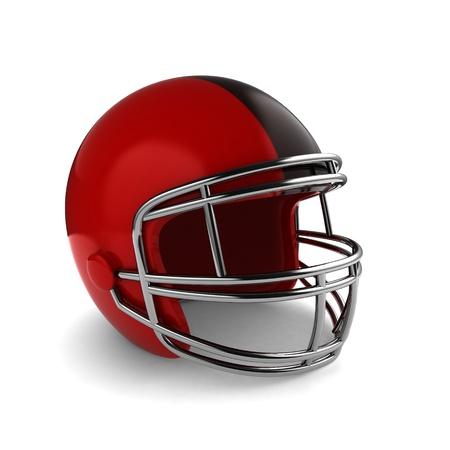 safety gear: 3D Illustration of a Footbal Helmet Stock Photo