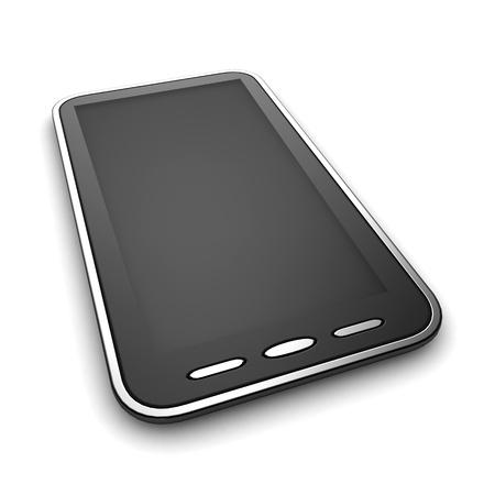 telefono caricatura: Ilustración 3D de un teléfono inteligente Foto de archivo