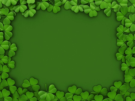 irish background: 3D llustration with a St. Patricks Day Theme
