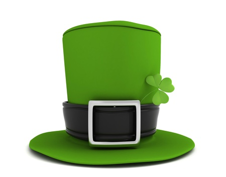 leprechaun hat: 3D Illustration of a Leprechaun Hat Stock Photo
