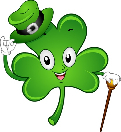 Illustration of a Gentlemanly Shamrock Mascot Stock Illustration - 12325648