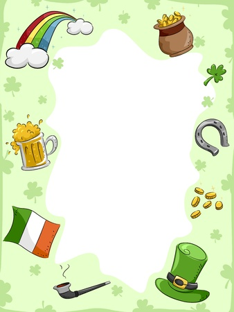 Background Illustration with a St. Patrick's Day Theme Stock Illustration - 12325636