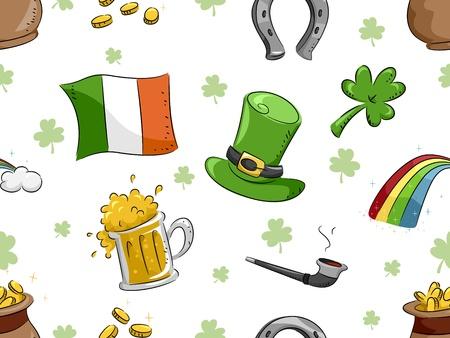 Background Illustration with a St. Patricks Day Theme illustration