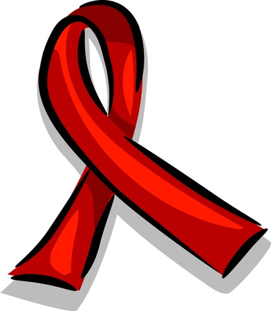 advocacy: Illustration of a Ribbon Promoting AIDS Awareness