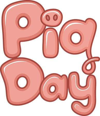 Text Illustration Celebrating National Pig Day illustration