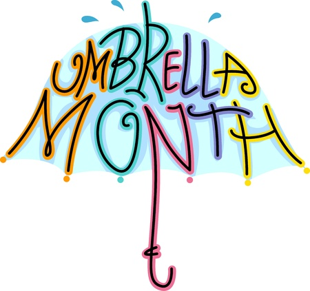 Text Illustration Celebrating Umbrella Month