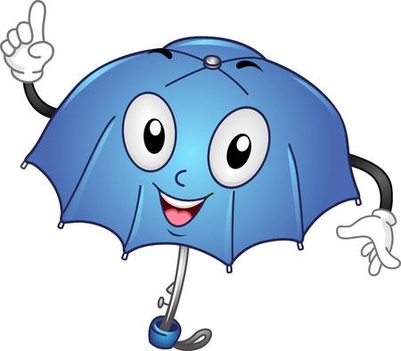 umbrella month: Mascot Illustration of an Umbrella