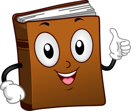 recommendation: Illustration of a Book Mascot Giving a Thumbs Up Stock Photo