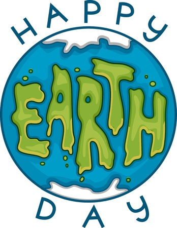 april clipart: Illustration Celebrating Earth Day Stock Photo
