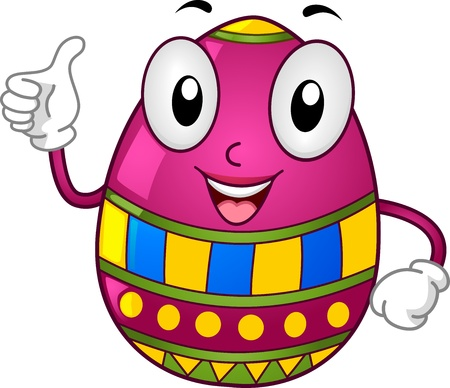 Illustration of an Easter Egg Mascot Giving a Thumbs Up illustration