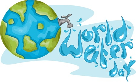 madre tierra: Ilustraci�n Celebrando el D�a Mundial del Agua