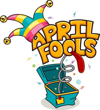 jack in a box: Illustration Celebrating April Fools
