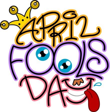 Illustration Celebrating April Fools