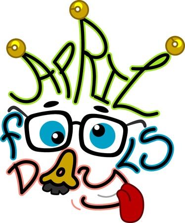 groucho: Illustration Celebrating April Fools