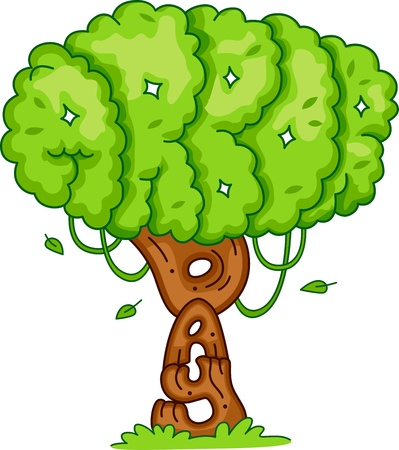 Illustration of a Tree Symbolizing Arbor Day illustration
