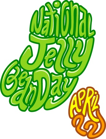 april clipart: Text Illustration Celebrating National Jelly Bean Day