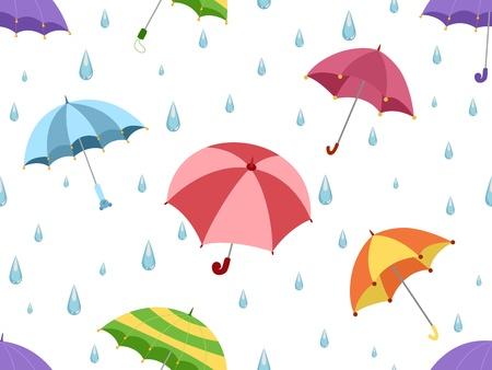 Illustration Featuring Umbrellas Stock Illustration - 12742699