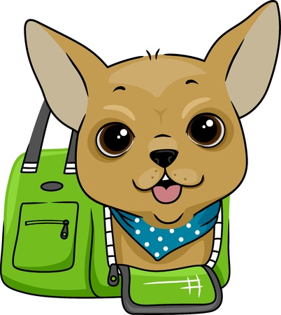 bag cartoon: Illustration of a Dog Stock Photo