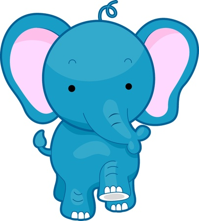 stroll: Illustration of a Walking Elephant