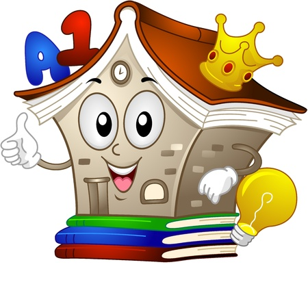 knowledge clipart: Illustration of a Library Mascot Giving a Thumbs Up