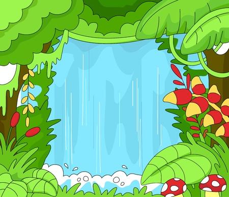 undisturbed: Illustration of an Undisturbed Rainforest