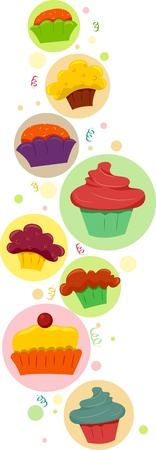 Border Illustration Featuring Cupcakes illustration