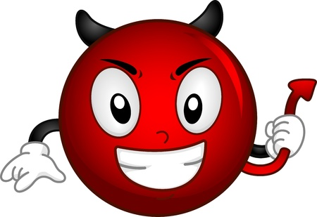 diabolic: Illustration of an Evil Smiley Stock Photo