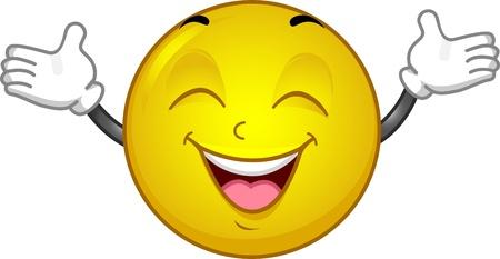 Illustration d'un très heureux Smiley
