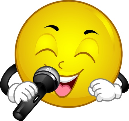 Illustration of a Singing Smiley Stock Illustration - 13131961