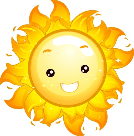 Mascot Illustration of a Sun Shining Brightly illustration