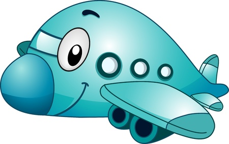 jet airplane: Mascot Illustration of an Airplane