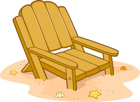 Illustration of a Chair by the Beach illustration
