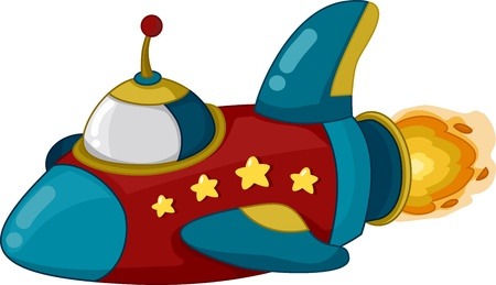Illustration of a Spaceship in Motion Stock Illustration - 13559505