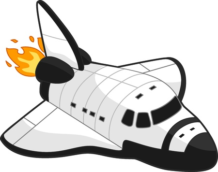 space shuttle: Illustration of a Space Shuttle Stock Photo