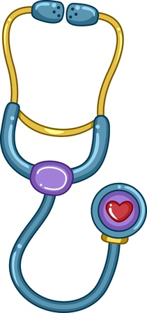 Illustration of a Stethoscope Toy illustration