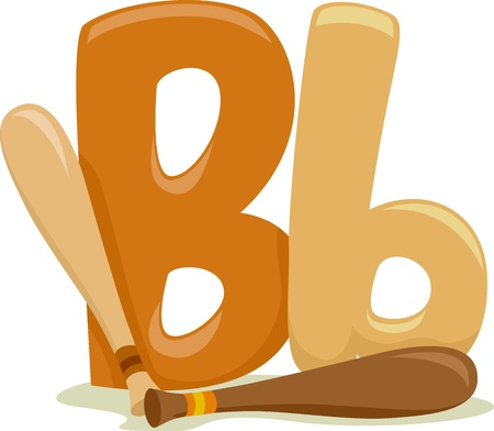 Illustration Featuring the Letter B illustration
