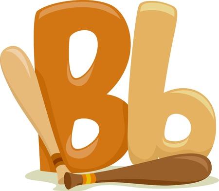 letter art: Illustration Featuring the Letter B