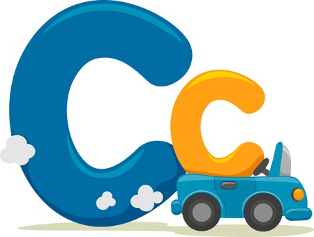 Illustration Featuring the Letter C illustration
