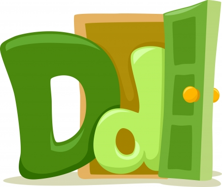 early education: Illustration Featuring the Letter D Stock Photo
